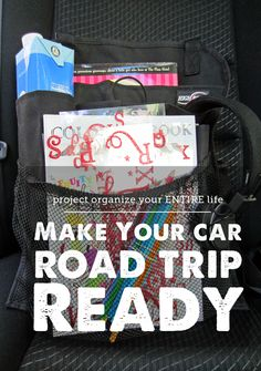 This SO beats the piles of junk that accumulate on a road trip. Organization tips for making your car road trip ready.
