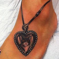 #anklet #tattoo with a cat in it