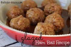 Delicious Glazed Ham Ball Recipe
