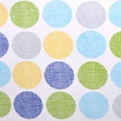 Fabric... Organic Havana Gum Drops in Blue by Monaluna