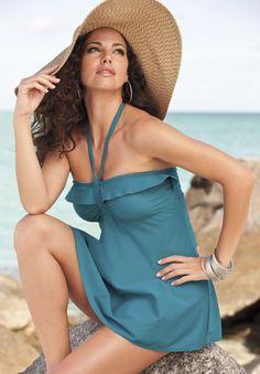 Plus Size Ruffle Swimdress image