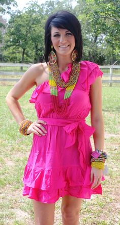 Walking After Midnight Hot Pink Dress