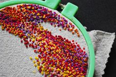 Lovely French Knots Work By Misslilamae