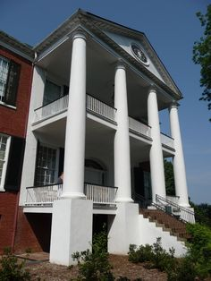 This is Rosalie Mansion in Natchez, MS. The name of house is my inspiration for my fictional Roselea in TIN GOD.   http://amzn.to/ZaZpIX