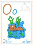 Letter O Otter Theme | Alphabet Preschool Lesson Plan Printable Activities and Worksheets