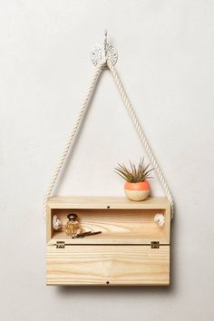 I wanna make this- Handcrafted Hanging Block - from anthropologie.com