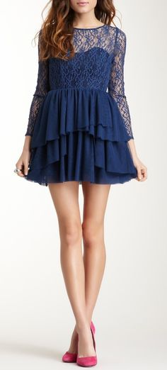 Lace Ruffled Dress