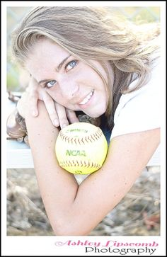 Senior Poses. Softball Like this but w/ Vball.