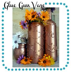How to Decorate a Vase with Hot Glue