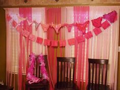 Yay for a pink lingerie shower!