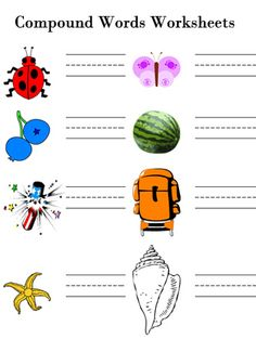 Elementary Compound Words Worksheets
