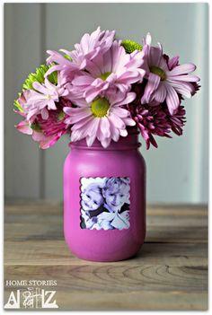 Mother's Day Crafts for Kids - Mason jar frame craft