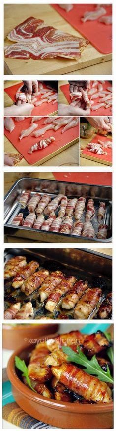 Honey Glazed Chicken and Bacon Bites