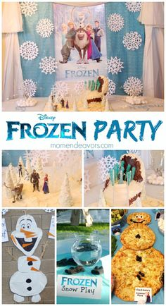 Disney Frozen birthday party via momendeavors.com. Frozen activities, decor, food, favors, and more...plus links to more great ideas! #disney #frozen #kidsparty