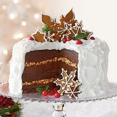 Chocolate-Gingerbread-Toffee Cake - Holidays