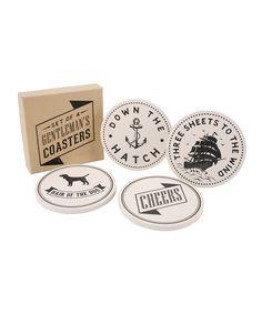 Set of Four Gentleman's Coasters