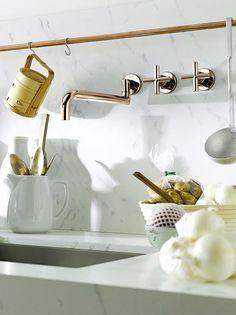 Sleek kitchen hardware