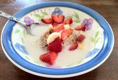 Primal Hot Cereal: almonds, banana, cinnamon, salt, almond milk