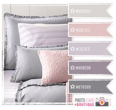 inspired bed - soft pink + lavendar + gray