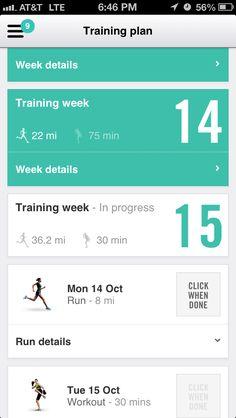 Nike women's marathon web app