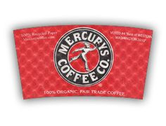 Mercury's Coffee Co. custom printed Java Jacket™ coffee sleeve.