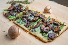 Green Bean and Mushroom Tart