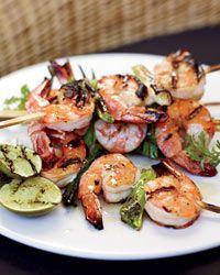 Grilled Miso Shrimp Recipe on Food & Wine