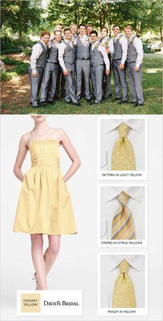 yellow wedding party ideas