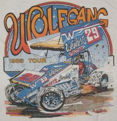 race car, vintag tshirt, auto art, knoxvill raceway, dirti race, racingsprint car