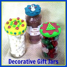 Decorated Gift Jars