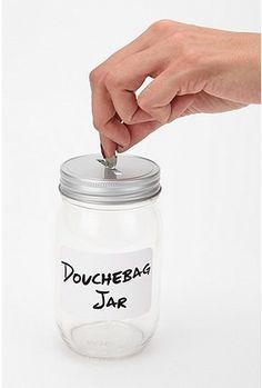idea, dorm room, newgirl, douchebag jar, funni, hous, new girl, dbag jar, jars