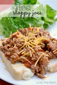 BBQ Sloppy Joes - super simple and easy dinner that your kids will love.