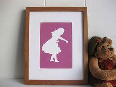 Alice in Wonderland Nursery Art Print