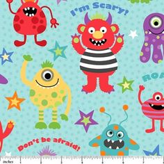 Fabric don 39 t be afraid on pinterest 15 pins for Baby monster fabric