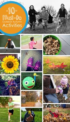 FALL BUCKET LIST: 10 Must-Do Outdoor Autumn Activities for Kids *Fall is going so quickly! Great list of classic ideas.