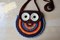 Crochet Pattern Crochet Owl Purse.
