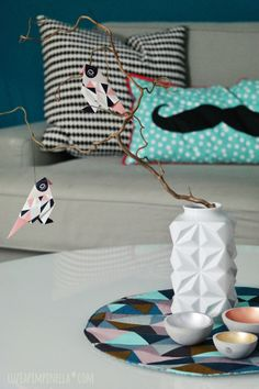 luzia pimpinella  |  handmade geo placemats [tutorial in german & english] #DIY #sewing