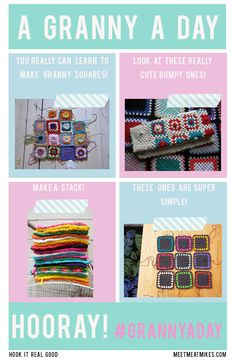A Granny A Day (How To Crochet A Granny Square!)