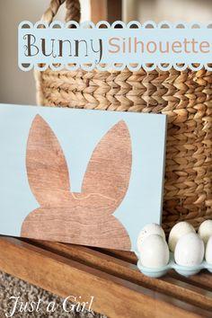 Super cute Bunny silhouette by @Margie Romney-Aslett
