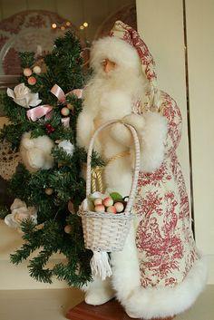 Red Toile Santa