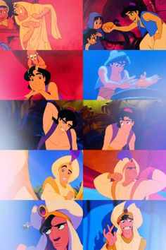 "Aladdin  --  ""Tell me princess, now when did you last let your heart decide?"""
