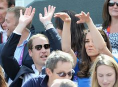 Husband and wife doing the wave #Olympics