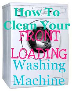 Cleaning your front loading washing machine using distilled white vinegar.