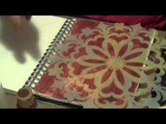 stencil techniqu, craft, art journaling tutorials, art journals, gesso art journal techniques, art journal tutorials, art techniqu, easi revers, revers stencil