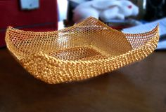 Wire crochet bowl by CatsWire
