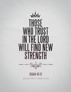 find new strength