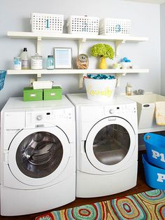Laundry Made Easy with DIY shelving