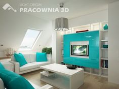 Cool-blue living room