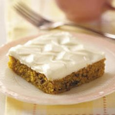 Carrot Cake Bars Recipe from Taste of Home -- shared by Agnes Ward of Stratford, Ontario