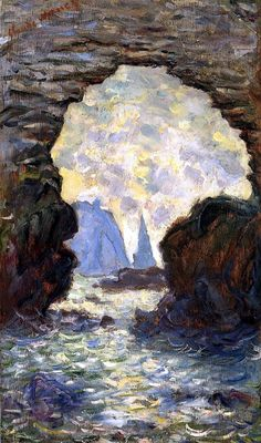 Claude Monet 1885-The Rock Needle and the Porte d'Aval